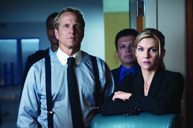 Better Call Saul cast members: Howard Hamlin (Patrick Fabian) with Kim Wexler (Rhea Seehorn) - Photo Credit: Ursula Coyote for Netflix, Inc.
