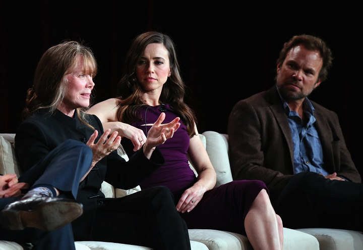 Bloodline Netflix Cast Members Pictured above left to right: Bloodline cast membersSissy Spacek, Linda Cardellini and Norbert Leo Butz - Photo by Mark Davis. Photo Credit - Getty Images for Netflix